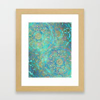 Sapphire & Jade Stained … Framed Art Print