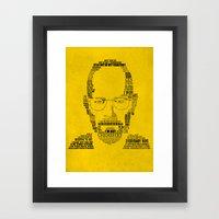 Breaking Bad:  Walter Wh… Framed Art Print