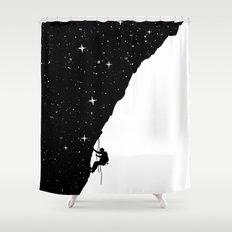 night climbing Shower Curtain