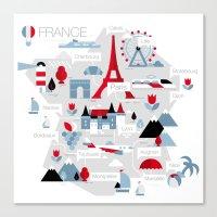 France Map Canvas Print