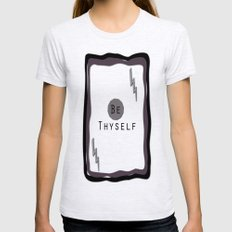 Be Thyself Womens Fitted Tee Ash Grey SMALL