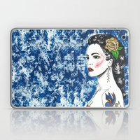 Lady With Swallow Tattoo Laptop & iPad Skin