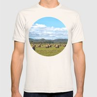 Hay Bales On A Sunny Day Mens Fitted Tee Natural SMALL
