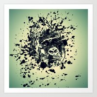 monkey Art Prints featuring Monkey by Sven Herkenrath