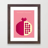 Fruit: Pomegranate Framed Art Print