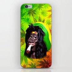 Rastaman Marijuana Caricature 3d iPhone & iPod Skin