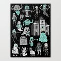 Wow! Ghosts!  Canvas Print