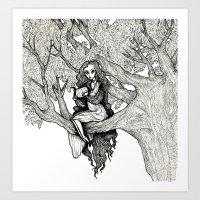 WOODLAND FAE Art Print