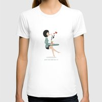 GO And GET It Womens Fitted Tee White SMALL
