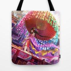 Niji Karakasa (Rainbow Umbrella) Tote Bag