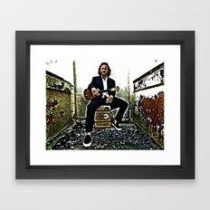 Eddie Vedder   Oil Painting Framed Art Print