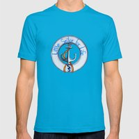 SS Mens Fitted Tee Teal SMALL