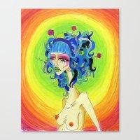 Medusa Has a Candy Coating Canvas Print