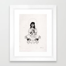 The Girl With Half a Lung Framed Art Print