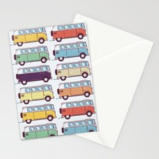 VW Van Parade Stationery Cards