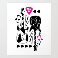 Rock On Girl! Art Print