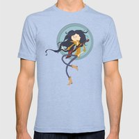 Marcy  Fanart  Mens Fitted Tee Tri-Blue SMALL