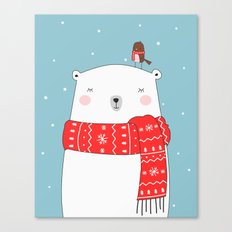POLAR BEAR&LITTLE BIRD C… Canvas Print