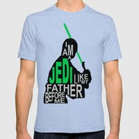 I Am A Jedi Mens Fitted Tee Tri-Blue SMALL