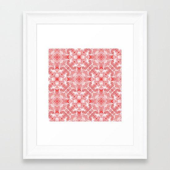 Coral Waves Framed Art Print