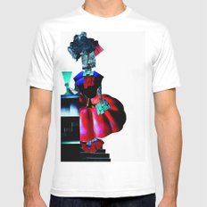 collage love :at the bar White Mens Fitted Tee SMALL
