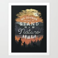 Go Outside and Stand in Nature Art Print
