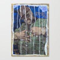 DEAD RAPPERS SERIES - Pimp C Canvas Print