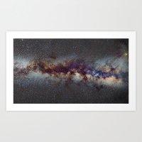 The Milky Way: From Scor… Art Print