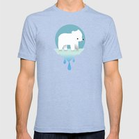 Sustainable Love Mens Fitted Tee Tri-Blue SMALL