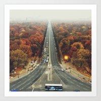 first we take manhatten than we take berlin I - autumn Art Print