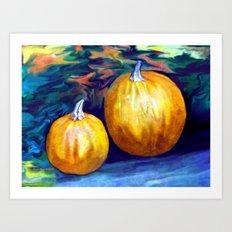 Pumpkin Still Life By Annie Zeno  Art Print