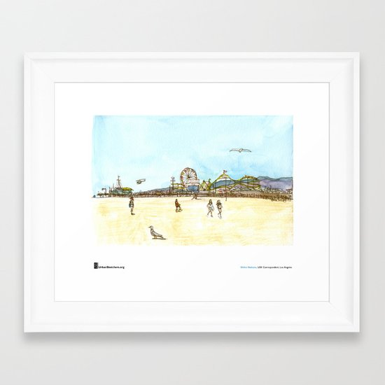 "Shiho Nakaza, ""Beach, Santa Monica"" Framed Art Print"