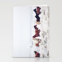 couple Stationery Cards featuring Winter Horseland by Kevin Russ