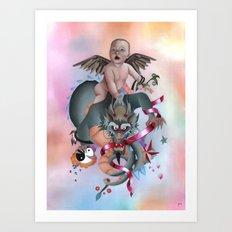 Cherub and Dragon Art Print