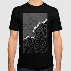Wave Mens Fitted Tee Black SMALL