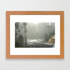 From inside the Car Framed Art Print