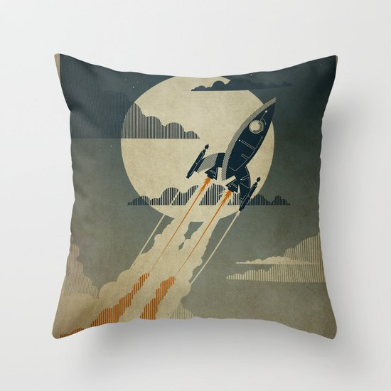 Night Launch Throw Pillow