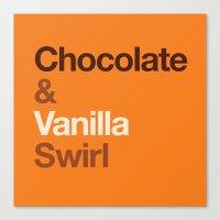 Chocolate & Vanilla Swirl OITNB Canvas Print