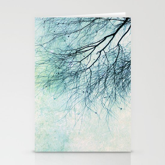 winter smooth Stationery Card