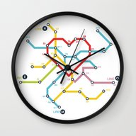Wall Clock featuring Home Where The Heart Is by Budi Kwan