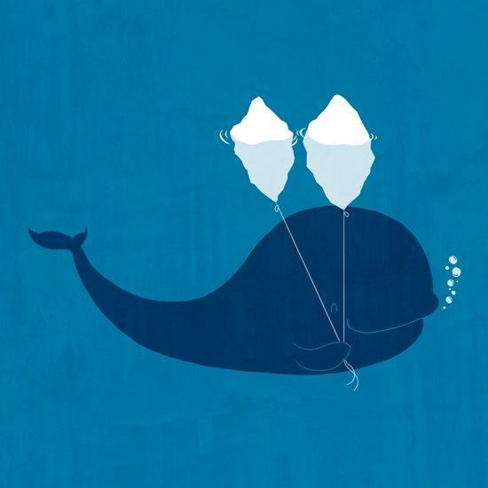 Why does iceberg float? Art Print