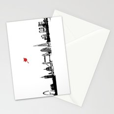 London City Skyline in black and white silhouette Stationery Cards