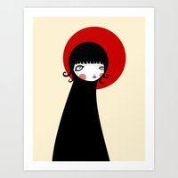Art Print featuring Redd Moon by Volkan Dalyan
