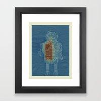 Sun Print - Vintage Robot Framed Art Print
