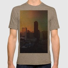 Sun's Coming Up Mens Fitted Tee Tri-Coffee SMALL