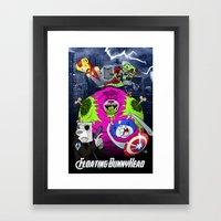 Floating BunnyHead + Avengers Framed Art Print