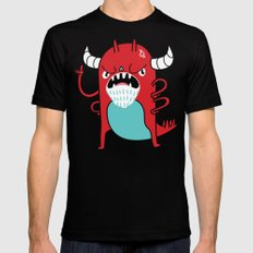 Monster Nagging SMALL Black Mens Fitted Tee