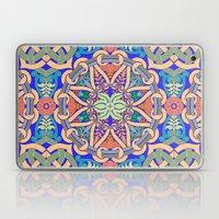 Celtic Floral Pattern Blue Laptop & iPad Skin