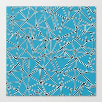 Shattered Ab Blue Canvas Print