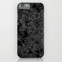 Snaky Fleur, Black and Grey iPhone 6 Slim Case